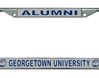 Georgetown University Alumni Chrome License Plate Frame