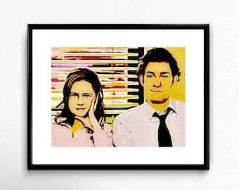 The Office (Jim and Pam) - Dwight - TV Show - Poster - Art - Dunder Mifflin - That's What She Said - Michael Scott - Scranton - Schrute