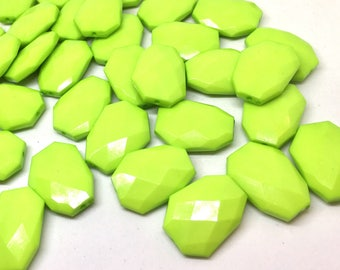 Lime Green faceted beads, light green beads, green beads, Bangle Making, Jewelry Making, 27mm Beads, lime Jewelry necklace, green jewelry