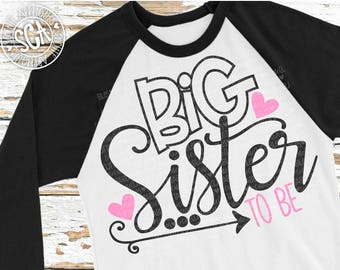 Big sister to be svg, birth announcement svg, New baby SVG, pregnancy announcement, sibling svg, New Baby cut file, socuteappliques