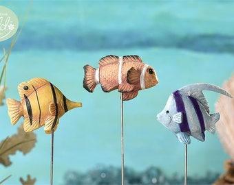 Fairy Garden  - Glow-In-The-Dark Fish - Set of 3 - Miniature