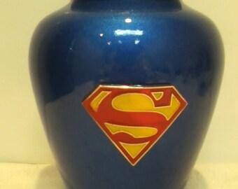820 Superman Vase Adult Memorial Cremation Urn