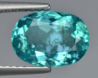 Paraiba Blue Apatite 2.28 Cts Oval Loose Gemstone Fpd3