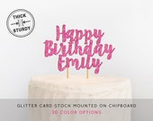 Personalized Happy Birthday Cake Topper, Birthday Cake Topper, Custom Cake Topper, Happy Birthday Cake Topper, Birthday Party Decor