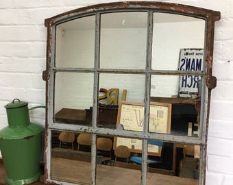 Reclaimed Salvaged Factory Window Mirror