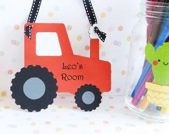 Tractor bedroom decoration / tractor ornament / personalised tractor/ wooden tractor / tractor nursery decor