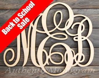 Dorm Decor Best Value WOODEN MONOGRAM - Laser Cut Wooden monogram wall hanging - Large Monogram wall letters - Personalized Gift