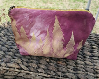 Treeline Zippered Pouch - Makeup Bag - Toiletry Bag - Travel Bag - Cosmetic Bag - Pencil Case
