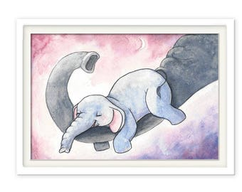 Children's posters small elephant
