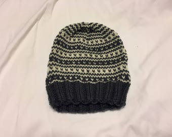 Fair Isle Striped Knit Hat