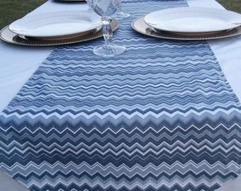 Gray Chevron Table Runner, 4to6 Seater Table, Fits Rectangle, Square, U0026  Round