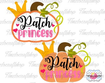 SVG, Eps, Dxf & Png Cutting Files For Patch Princess Cricut and Silhouette cutting machines, Digital INSTANT DOWNLOAD