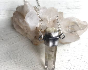 In Dreams- Vintage dental implant and Rutile Quartz Talisman