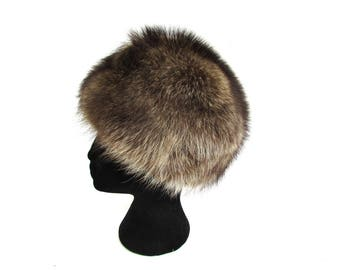 Vintage Fox Fur Winter Hat 60's