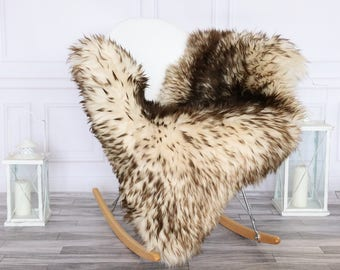 Sheepskin Rug | Real Sheepskin Rug | Shaggy Rug | Chair Cover | Sheepskin Throw | Brown  Sheepskin | #HERSEPT12