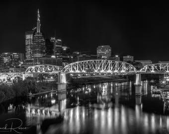 Photo Art - Night Cityscape - Nashville Photography