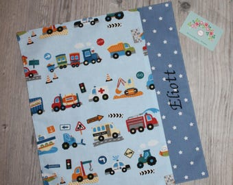 "Canteen, birthday, Easter * napkin, canteen, ""as the great"", personalized, cotton, vehicles - custom"