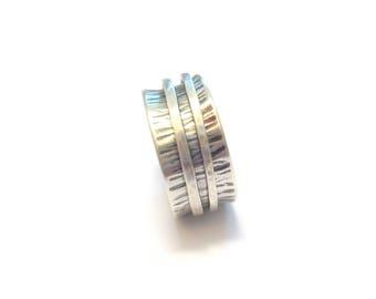 Sterling Silver Meditation ring, Spinner
