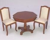Miniature dollhouse or room box 1:12 scale random box of furniture table chair Box 6a