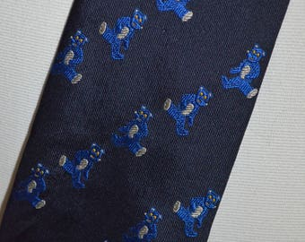 Vintage Black Teddy Bears Full Length Necktie by JC de Castelbajac