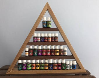 Triangle Wooden Essential Oil Shelf
