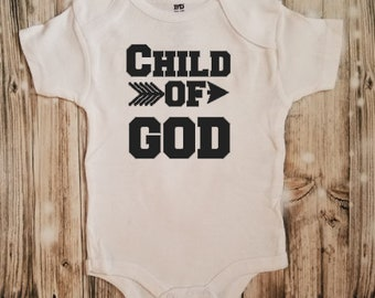 Child of God Bodysuit - Baby Shower Gift - Baby Announcement - Baby Bodysuit - Unisex Baby Clothing - Religious Outfit - Christian Clothing