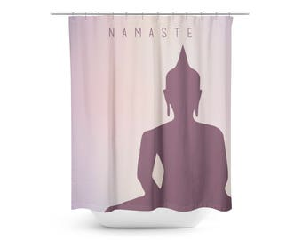 Buddha Namaste Shower Curtain - Bathroom Decor - Zen Bathroom Decor