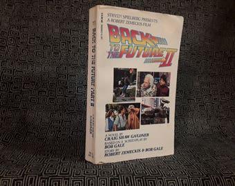 Back To The Future 2 Paperback Book 1989, Michael J Fox, Delorian Car