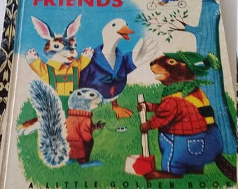 Rabbit and his friends a little golden book 1972 australian sydnwy GB edition
