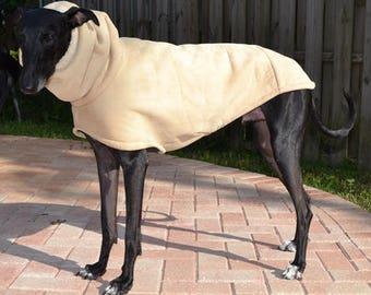 """Greyhound Coat. """"Faux Suede Sherpa"""".  Winter Coat for Greyhound. Dog Clothing for Greyhound. Greyhound Clothes. Dog Coat. Dog Jacket."""