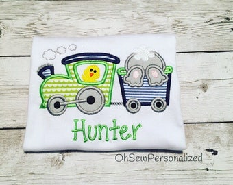 Easter Shirts For Boys - Boy Easter Shirt - Easter Train Shirt - Easter - Train - Easter Bunny Train