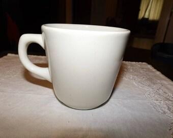 Vintage, White Ironstone, Buffalo China, Ironstone, Restaurant Ware, Coffee Cup, Mug, Buffalo Mugs, Ceramic Mugs, Mugs, Buffalo, Farmhouse