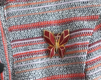 Vintage brooch/pin Butterfly origami/french designer Orena/Lucillesandcop/butterfly brooch/butterfly origami/3D Butterfly
