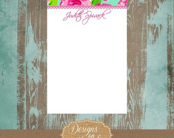 Lilly Pulitzer notepad, First Impression Design, Lilly notes, Preppy notepad, graduation gift