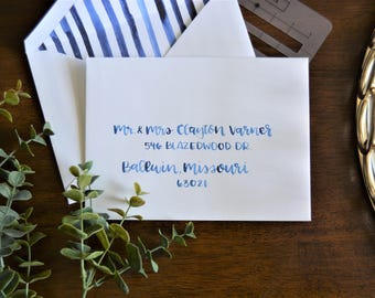 Watercolor Wedding Envelope Calligraphy- Watercolor Wedding Envelopes- Wedding Envelope Addressing- Watercolor Envelope Addressing