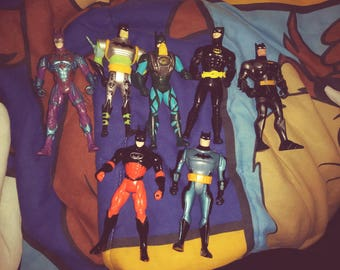 Lot of Late 1990s Batman action figures