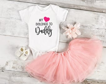 My Heart Belongs to Daddy SVG File, Cricut File, Valentines SVG Cutting Files, Silhouette Cutting File