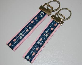 Arrows Ribbon strap/ wristlet key fob