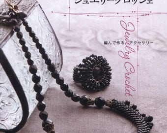 Jewelry Crochet Accessories - BEADS STITCH ACCESSORIES - Japanese Craft eBook - Instant Download Pdf  - Japanese Bead eBook