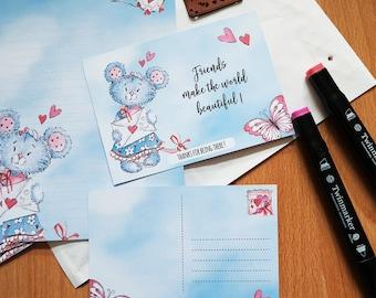 Friends forever - snail mail letter writing set - snail mail kit
