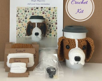 Crochet Kit - Amigurumi Kit - Crochet Pattern Dog - Crochet Starter Kit - Crochet Gifts - Crochet Dog Pattern - Dog Crochet Pattern - Beagle