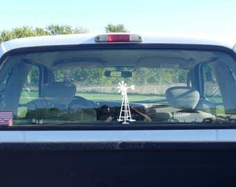 windmill sticker, windmill vinyl decal, white windmill, windmill decal, farmhouse art, farmhouse windmill, farm windmill, farm scene decal