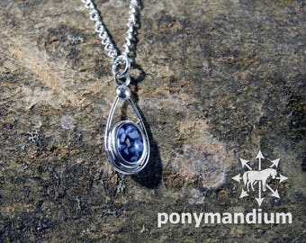 CUSTOM Sterling silver and resin pendant preserving your pet's cremated ashes