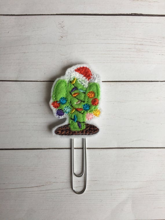 Tropical Christmas Cactus planner Clip/Planner Clip/Bookmark. Cactus Planner Clip. Tropical Planner Clip. Christmas. Tropical Christmas