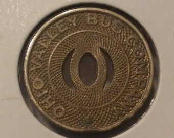 Ohio Valley Bus Company Good For One City Fare Bus Token