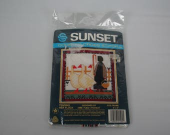 New, Sunset Counted Cross Stitch #1504 Tending Her Flock