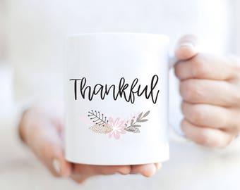 Thankful mug | Thanksgiving mug | Fall Coffee Mug | Holiday Coffee Mug | Gift For The Holidays | Cute Coffee Mug