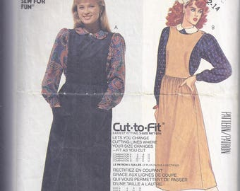 "Easy 1986 McCall's 2650 Sewing Pattern. Misses Jumper and Blouse    Bust 32 1/2 - 36 ""Learn to Sew"""