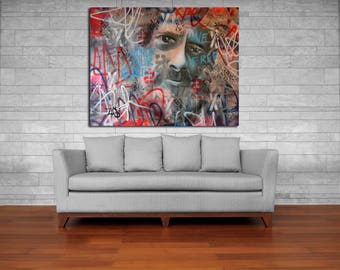 Terence Mckenna Abstract Graffiti Street Art Original Painting Modern Urban Canvas Wall Gallery Contemporary Signed