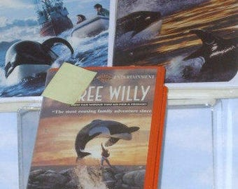 Free Willy Movies, Whale Rescue Story, Whale Family Movies, Warner Bros. Movies, VHS Video, Classic Whale Stories on VHS Video Rescue Series